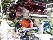 Japanese car production line