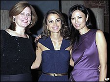 Sarah Brown, queen Rania and Wendi Murdoch