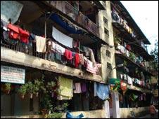 A shanty town in Mumbai