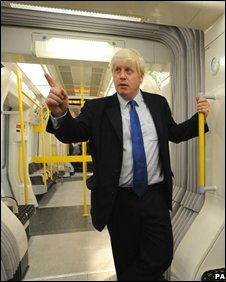 Boris Johnson in the air-conditioned Tube