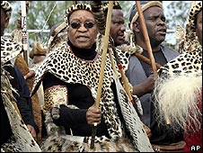Jacob Zuma in traditional Zulu dress