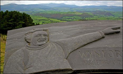 The Wynford Vaughan-Thomas memorial (picture: Graham White)