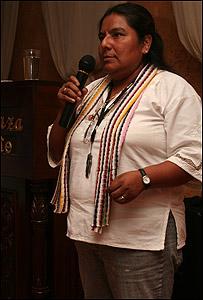 Rafaela Justo Elías, indígena náhua del municipio de Ayotitlán