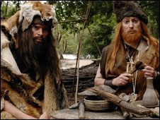 BBC Two's That Mitchell and Webb Look - Stone Age men on Bronze Orientation Day