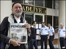 Michael Dickinson outside a Turkish court