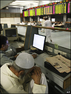 Stockbroker in Karachi