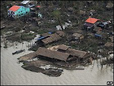 A village destroyed by the cyclone ( May 2008)