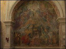 Frescoes in Corfu
