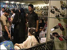 Shoppers in Karachi