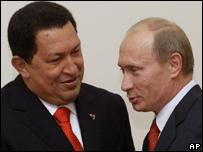 Hugo Chávez y Vladimir Putin