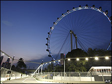 The Singapore F1 race will take place at night under floodlights