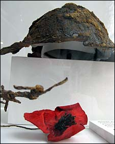 Helmet in exhibition