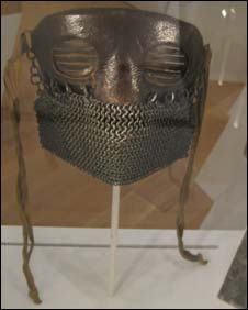 Mask worn by men on early tanks