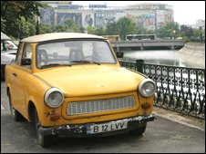 A Trabant car in Romania, BBC