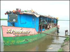 Barge delivering beer