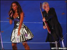 Leona Lewis and Jimmy Page at Beijing Olympics