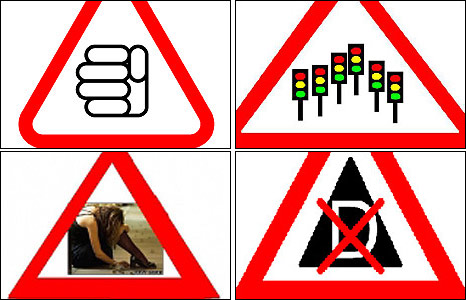 Suggested road signs