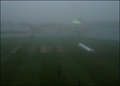 A murky Trent Bridge
