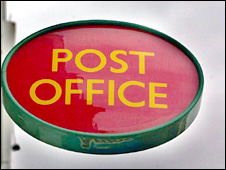 Post office sign