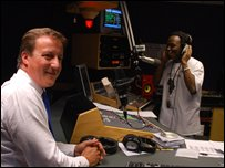 David Cameron in radio studio
