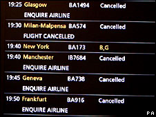 Departure screen