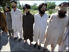 Suspected  militants in Bajaur