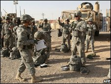 US troops near Tikrit, Iraq