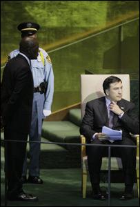 الرئيس الجورجي في مقر الجمعية العامة للأمم المتحدة