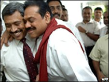 Gotabhaya Rajapaksa  (left) and his brother President Rajapaksa