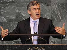 Gordon Brown at the UN