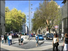 artist's impression Exhibition Road