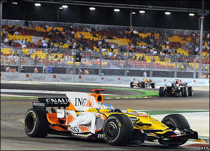 Renault's Fernando Alonso enjoyed the second practice session