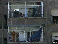 Daños provocados por el atentado en Damasco