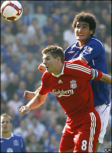 Steven Gerrard, Liverpool; Marouane Fellaini, Everton