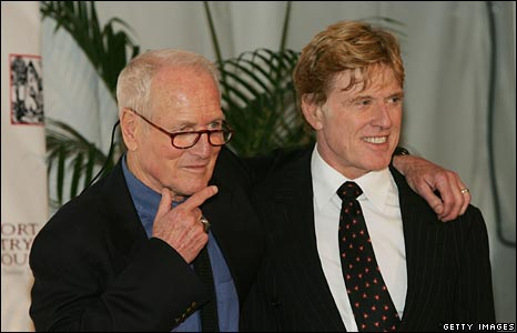 With Robert Redford, both in advancing years