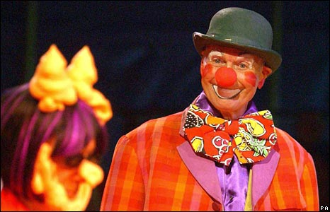 As clown Butch Bolognese at Zippo's Circus in London