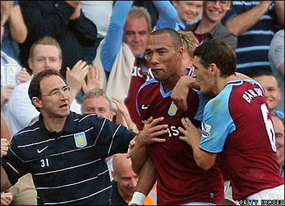Martin O'Neill, John Carew, Gareth Barry, Aston Villa