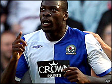 Christopher Samba celebrates