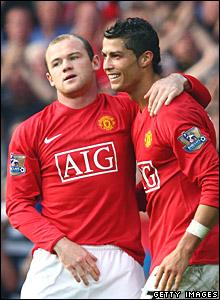 Wayne Rooney, Cristiano Ronaldo, Manchester United