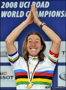 Cooke said it had always been an ambition of hers to claim the rainbow jersey of the road race champion
