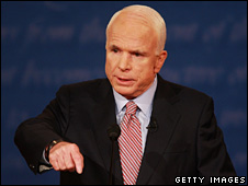 John McCain at the debate in Oxford (26 September 2008)