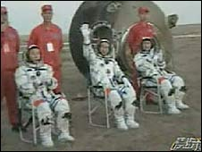 Three Shenzhou VII astronauts return - 28/09/08