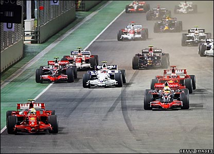 Start of the Singapore Grand Prix