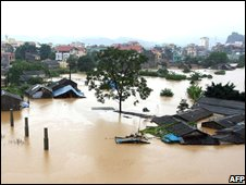 Villages in northern Vietnam have been swamped