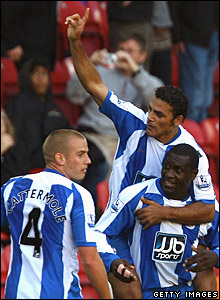 Lee Cattermole, Amr Zaki, Emile Heskey, Wigan Athletic