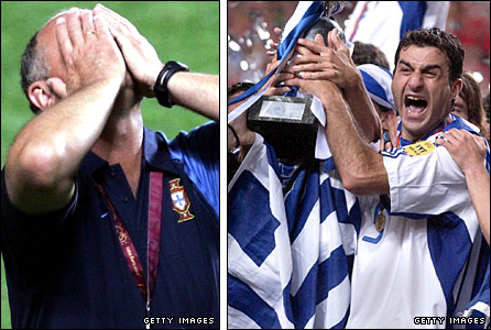 Luiz Felipe Scolari  laments Portugal's defeat by Greece in the Euro 2004 final