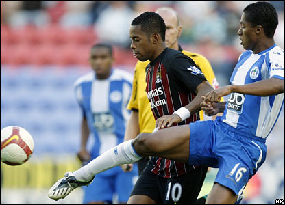Robinho, Manchester City; Antonio Valencia, Wigan Athletic
