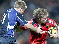 Magners League champions Leinster were beaten 18-0 by Munster