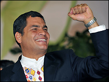 Rafael Correa in Guayaquil - 28/09/2008