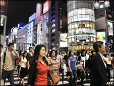 People in central Tokyo, 18 Sept